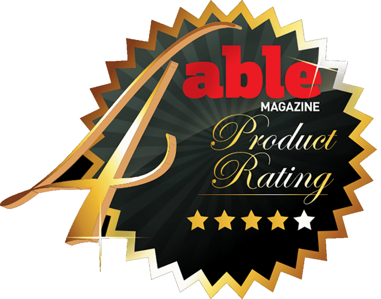 Able magazine 4 star rating logo